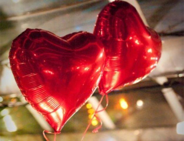 Balões de Coração