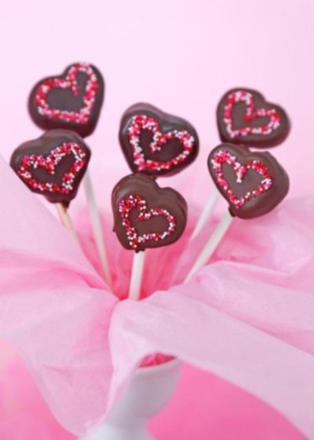 Cake Pop coração