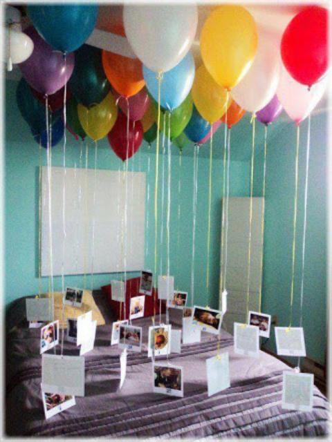 Fotos no balão